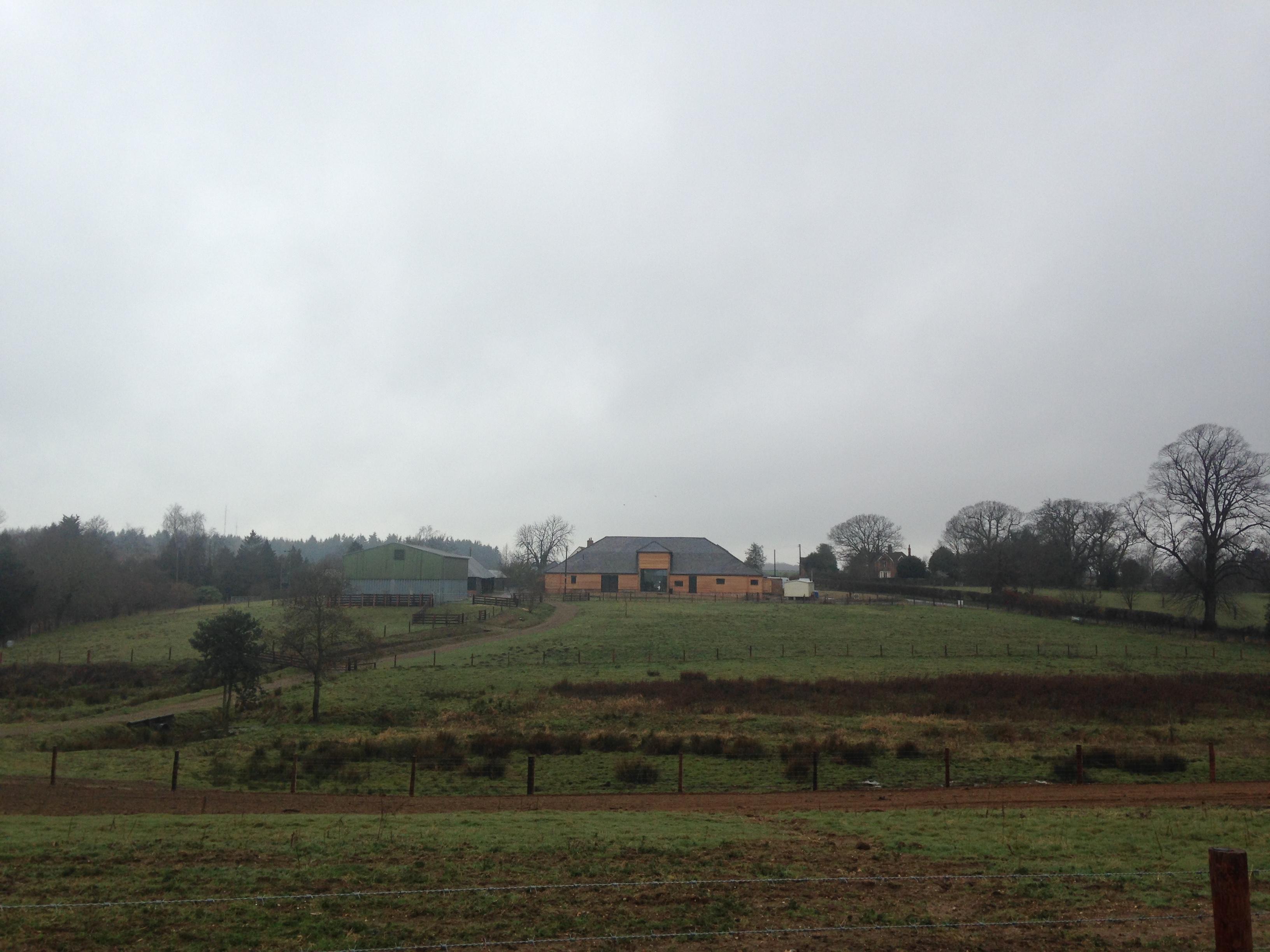 barn in a field